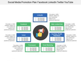 Social Media Promotion Plan Facebook Linkedin Twitter Youtube