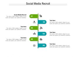 Social Media Recruit Ppt Powerpoint Presentation Gallery Outline Cpb