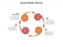 Social Media Recruit Ppt Powerpoint Presentation Model Designs Cpb