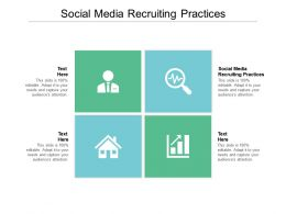 Social Media Recruiting Practices Ppt Powerpoint Presentation Styles Examples Cpb