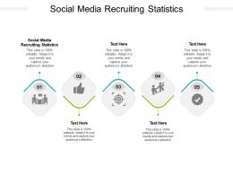 Social Media Recruiting Statistics Ppt Powerpoint Presentation Ideas Cpb