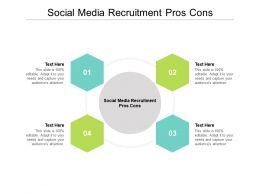 Social Media Recruitment Pros Cons Ppt Powerpoint Presentation Summary Ideas Cpb