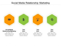 Social Media Relationship Marketing Ppt Powerpoint Presentation Pictures Samples Cpb