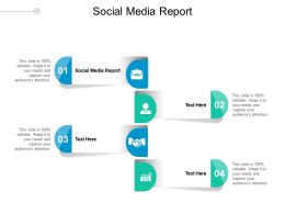 Social Media Report Ppt Powerpoint Presentation Outline Ideas Cpb