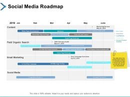 Social Media Roadmap Email Marketing Ppt Powerpoint Presentation File Elements
