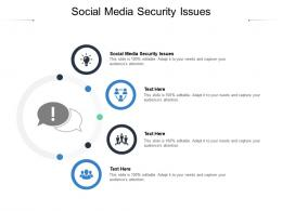 Social Media Security Issues Ppt Powerpoint Presentation Pictures Maker Cpb
