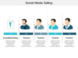 Social Media Selling Ppt Powerpoint Presentation Infographic Template Outline Cpb