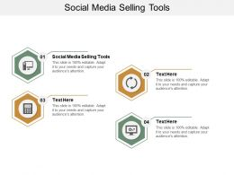 Social Media Selling Tools Ppt Powerpoint Presentation File Template Cpb