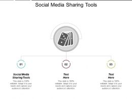 Social Media Sharing Tools Ppt Powerpoint Presentation Gallery Maker Cpb