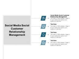 Social Media Social Customer Relationship Management Ppt Powerpoint Presentation Infographic Cpb