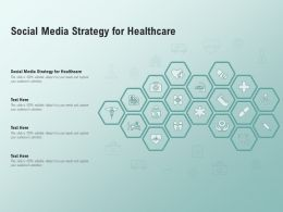 Social Media Strategy For Healthcare Ppt Powerpoint Presentation Portfolio Example File