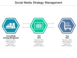 Social Media Strategy Management Ppt Powerpoint Presentation Slides Objects Cpb