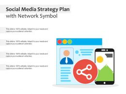 Social Media Strategy Plan With Network Symbol