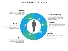 Social Media Strategy Ppt Powerpoint Presentation Infographics Aids Cpb