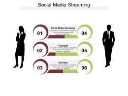 Social Media Streaming Ppt Powerpoint Presentation Infographic Template Cpb
