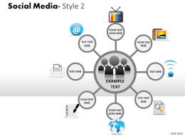 Social Media Style 2 diagram 4