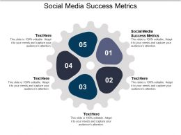 Social Media Success Metrics Ppt Powerpoint Presentation Inspiration Diagrams Cpb