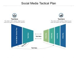 Social Media Tactical Plan Ppt Powerpoint Presentation Slides Ideas Cpb