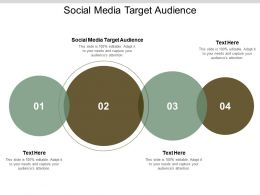 Social Media Target Audience Ppt Powerpoint Presentation Show Information Cpb