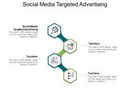 Social Media Targeted Advertising Ppt Powerpoint Presentation Diagram Cpb