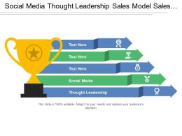 Social Media Thought Leadership Sales Model Sales Tool