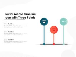 Social Media Timeline Icon With Three Points