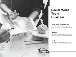 Social Media Tools Business Ppt Powerpoint Presentation Gallery Model Cpb