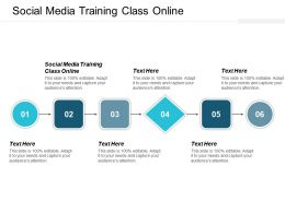 Social Media Training Class Online Ppt Powerpoint Presentation Pictures Graphics Cpb