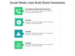 Social Media Used Build Brand Awareness Ppt Powerpoint Presentation Show Grid Cpb