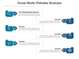 Social Media Websites Business Ppt Powerpoint Presentation Icon Smartart Cpb