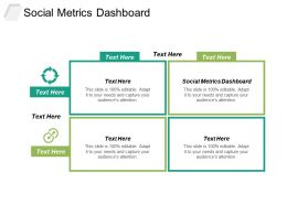 Social Metrics Dashboard Ppt Powerpoint Presentation Icon Slide Portrait Cpb