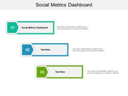Social Metrics Dashboard Ppt Powerpoint Presentation Infographic Template Background Images Cpb