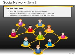 Social Network 1 Powerpoint Presentation Slides DB