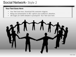 Social Network 2 Powerpoint Presentation Slides DB