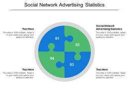 Social Network Advertising Statistics Ppt Powerpoint Presentation Model Graphics Tutorials Cpb