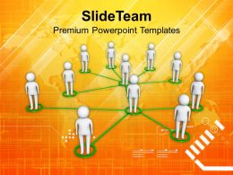 Social Network Community Team Communication Powerpoint Templates Ppt Themes And Graphics
