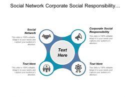 Social Network Corporate Social Responsibility Business Marketing Strategies Cpb