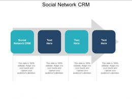 Social Network CRM Ppt Powerpoint Presentation Gallery Templates Cpb