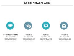 Social Network CRM Ppt Powerpoint Presentation Infographic Template Graphics Cpb