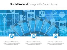 Social Network Image With Smartphone