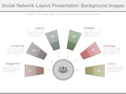 Social Network Layout Presentation Background Images