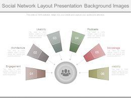 Social Network Layout Presentation Background Images