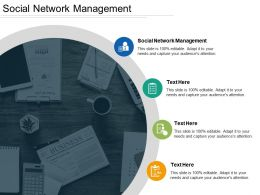 Social Network Management Ppt Powerpoint Presentation Gallery Information Cpb