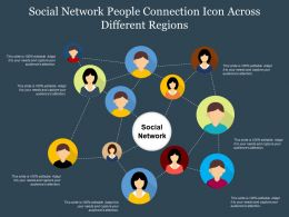 Social Network People Connection Icon Across Different Regions