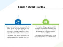 Social Network Profiles Business Data Analytics Ppt Powerpoint Presentation Infographics