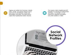 Social Network Profiles Integration Ppt Powerpoint Presentation Infographics Icons
