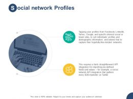 Social Network Profiles Networks H28 Ppt Powerpoint Presentation Pictures Graphics Design