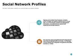 Social Network Profiles Networks Ppt Powerpoint Presentation Show Files