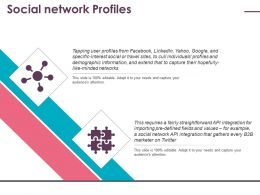 Social Network Profiles Ppt Gallery Slide Download