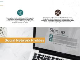 Social Network Profiles Technology Planning Ppt Powerpoint Presentation Gallery Portfolio